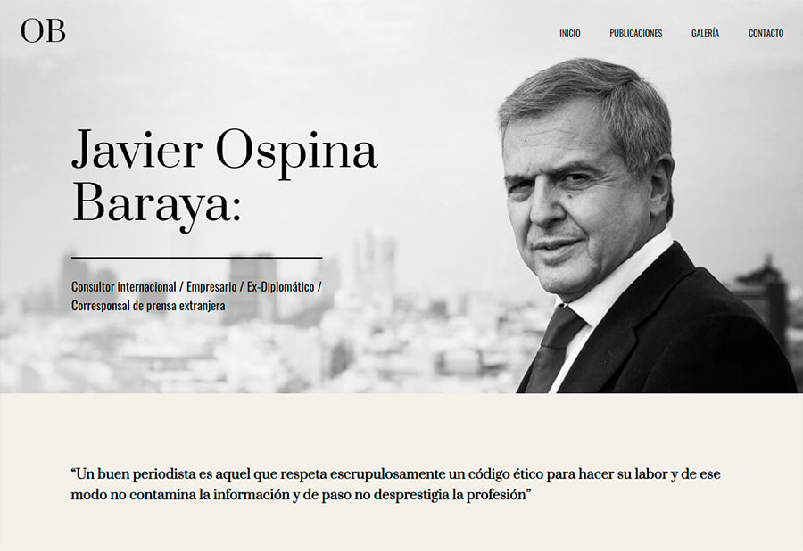 Blog personal Javier Ospina Baraya
