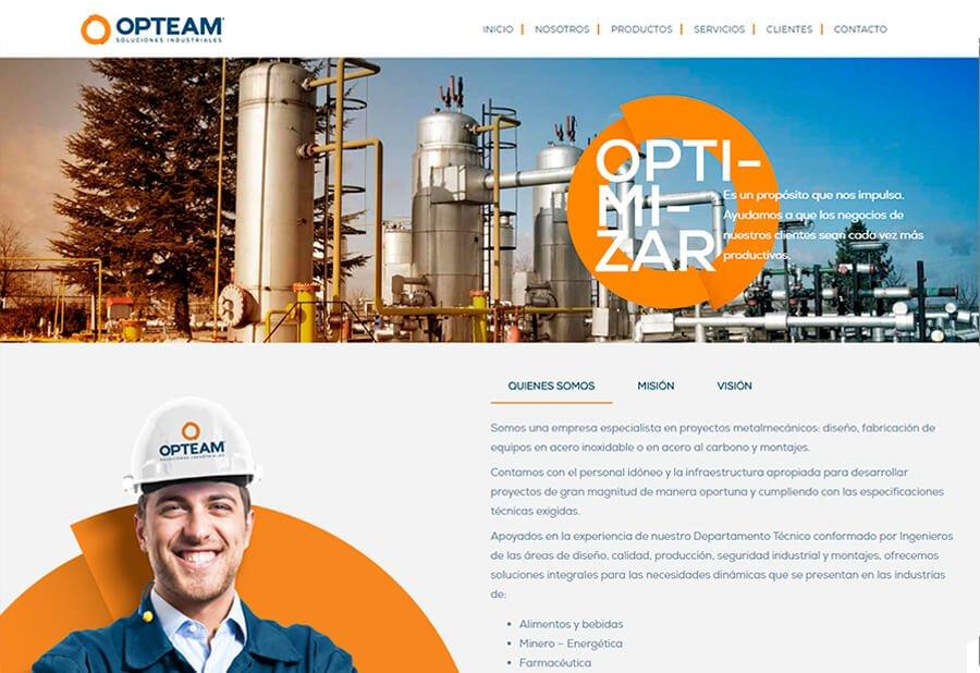 Sitio web corporativo Opteam